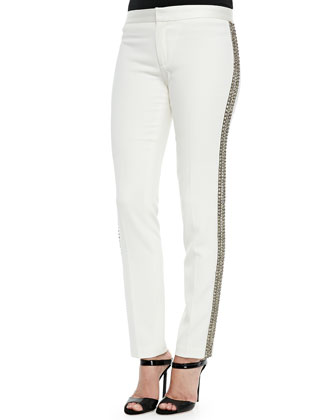 Embellished Tux Stripe Pants