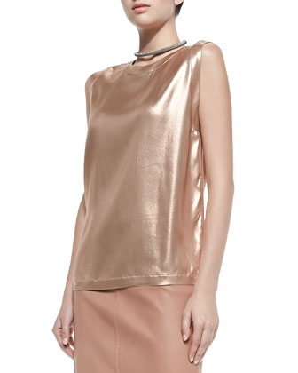 Lam?? Scoop-Neck Tank, Copper