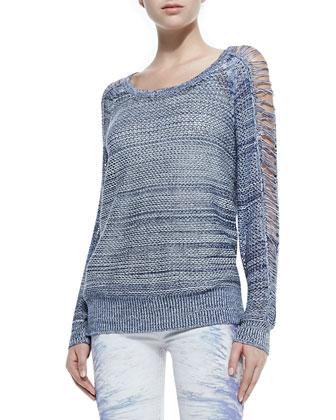 Yana Boat-Neck Sweater W/ Slashed Sleeves