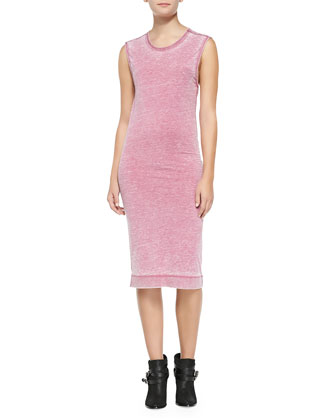 Galina Midi-Length Melange Tank Dress