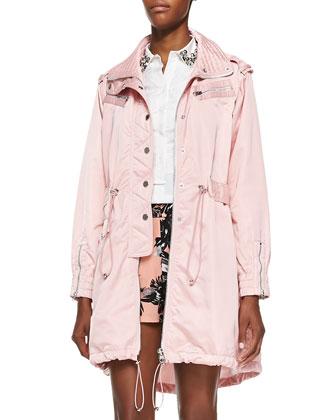 Taffeta Parka Jacket, Victorian Rose