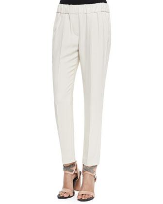 Crepe Pull-On Pants