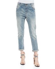 Rolled-Cuff Boyfriend Jeans