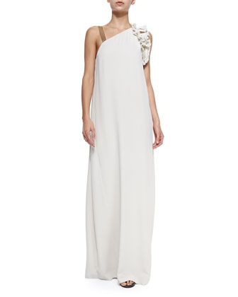 Shift Gown with One Monili Strap