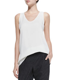 Scoop-Neck Silk Cami