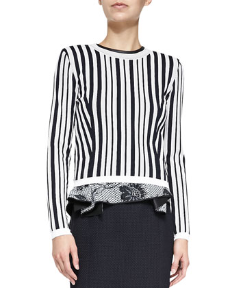 Hatu Perforated Striped Sweater
