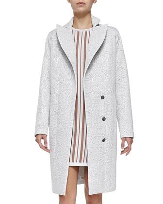 Fuse Shiny Tweed Coat