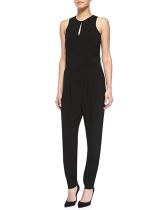 Arden Sleeveless Jumpsuit W/ Lace Back