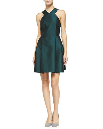 Simona Sleeveless V-Neck Dress