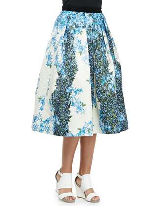 Sidewalk Full Floral Skirt