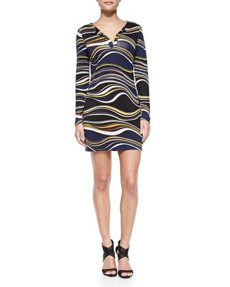 Reina Printed Silk Dress