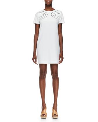 Cecilia Cutout-Front Crepe Dress