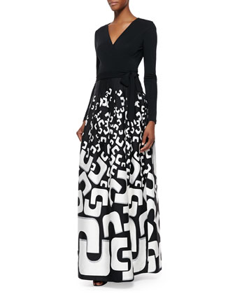 Kailey Tie-Waist Printed Maxi Dress