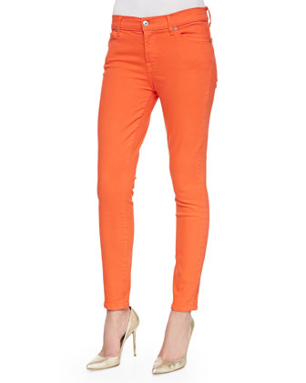 Slim Illusion Skinny Ankle Jeans, Orange