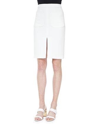 Two-Pocket Slit Pencil Skirt