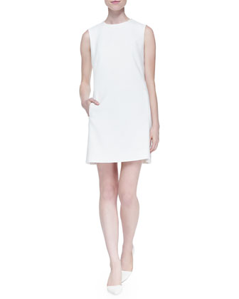 Sleeveless Two-Pocket Mod Dress