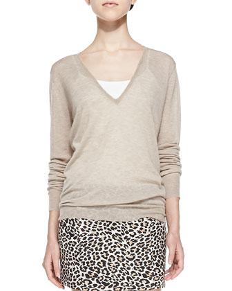 Cashmere V-Neck Lightweight Sweater