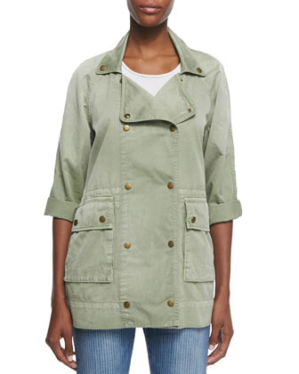 Twill Double-Breasted Infantry Jacket