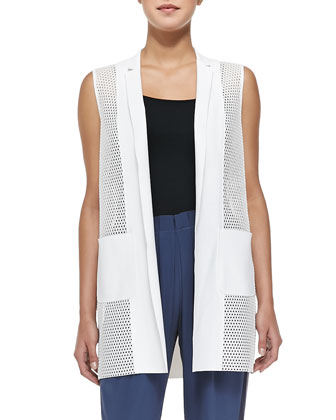 Tonya Mesh-Net Long Vest