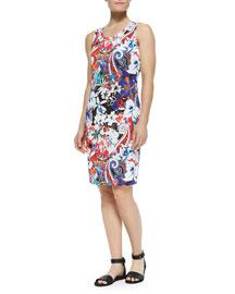 Hawaiian & Paisley-Print Tank Dress
