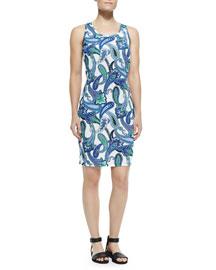 Sleeveless Paisley Tank Dress