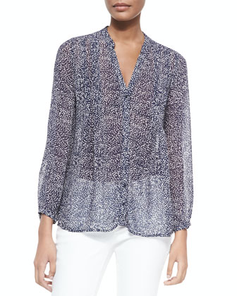 Martine C Printed Silk Blouse