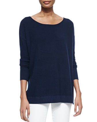 Zephyrine Boat-Neck Knit Top