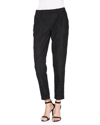 Lacinda Pleated Lace Pants