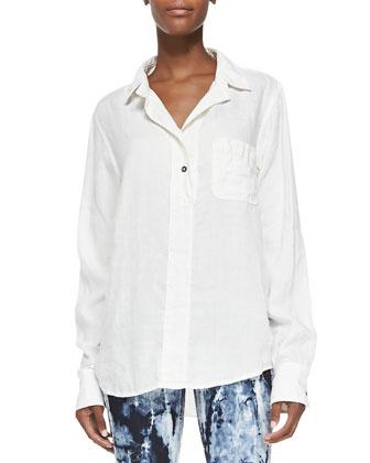 Leeds Linen-Blend Pocket Shirt