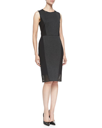 Laci Sleeveless Dress W/ Jersey Borders