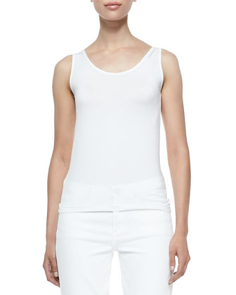 Netta Knit Scoop-Neck Tank
