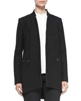 Natalie Long Arch-Hem Coat