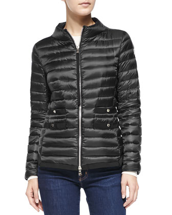 Lochet Quilted Puffer Jacket, Black