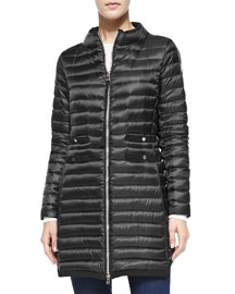 Aubry Long Mock-Neck Puffer Jacket