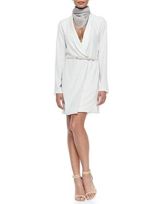 Jacket Dress W/ Skinny Belt