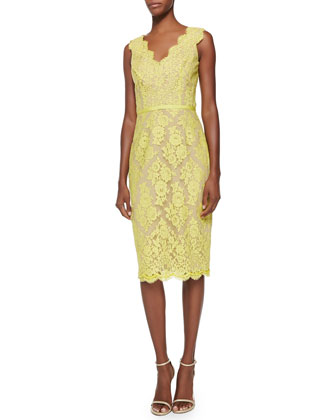 Yvonne Sleeveless Lace Cocktail Dress