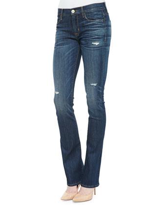 Elle Mid-Rise Boot-Cut Jeans