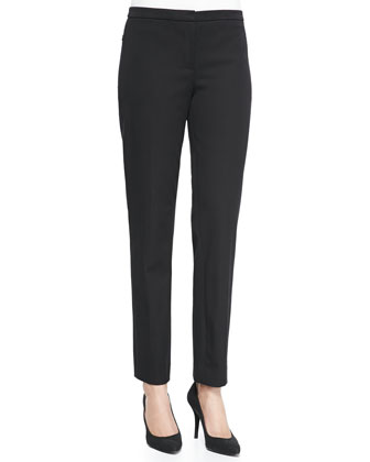 Lindley Straight-Leg Pants, Black