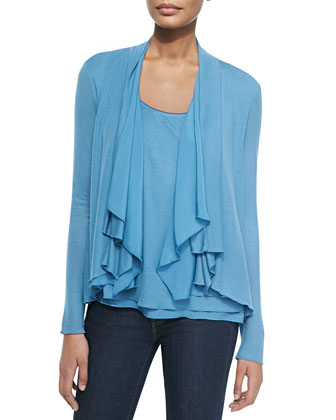 Farrell Draped-Collar Cardigan