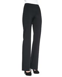 Palen Bonded Wide-Leg Pants, Nero Black