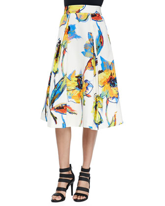 Pop Art Lana Midi Skirt