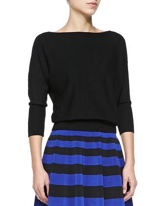 3/4-Dolman-Sleeve Pullover