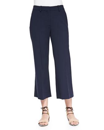 Inza Wide-Leg Cropped Pants