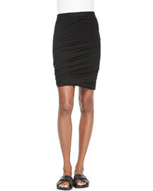 Twisted Stretch Pencil Skirt