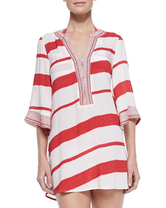 Helen Striped Tunic Coverup
