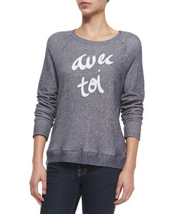 Annora Avec Toi Terry Sweater