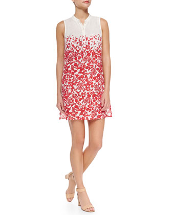 Issy Floral-Print Voile Sundress