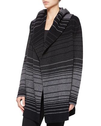 Striped Blanket Sweater Jacket