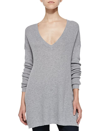 Beau V-Neck Tunic Sweater
