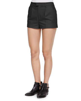 Stretch Cotton Shorts, Black